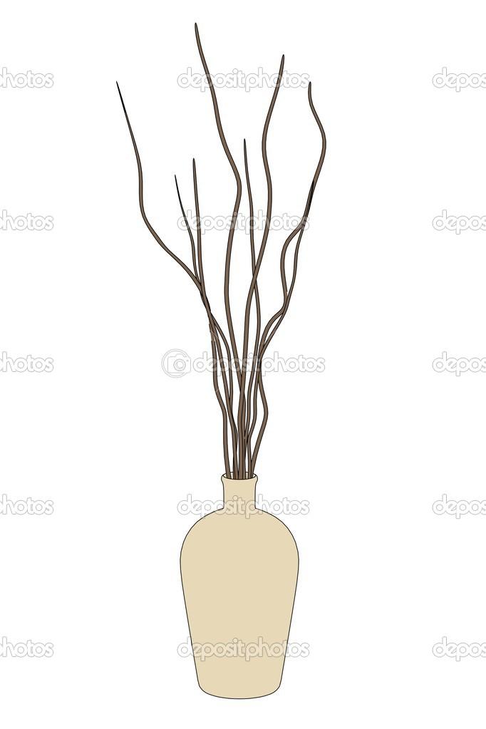 Image De Dessin Animé De Vase Avec Plante Photographie