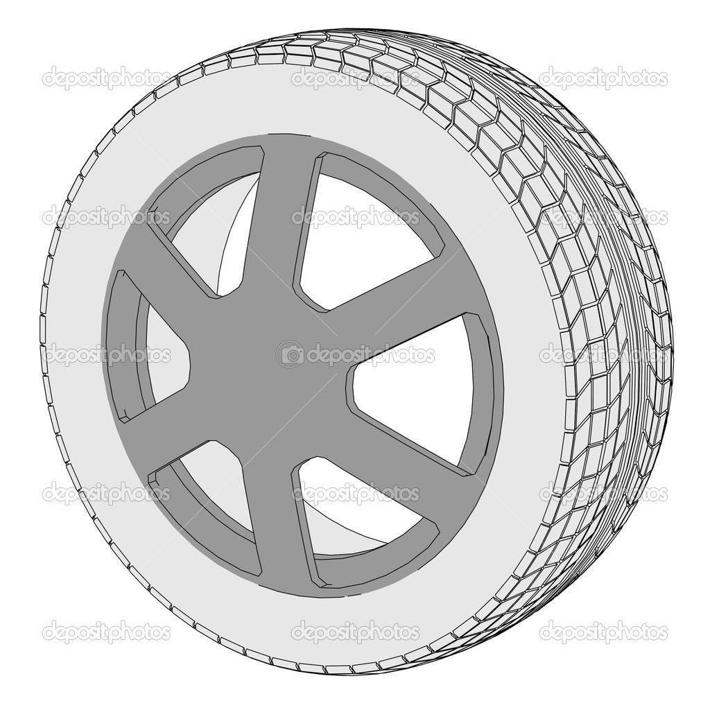 image de dessin anim de pneu de voiture photographie 3drenderings 41611051. Black Bedroom Furniture Sets. Home Design Ideas