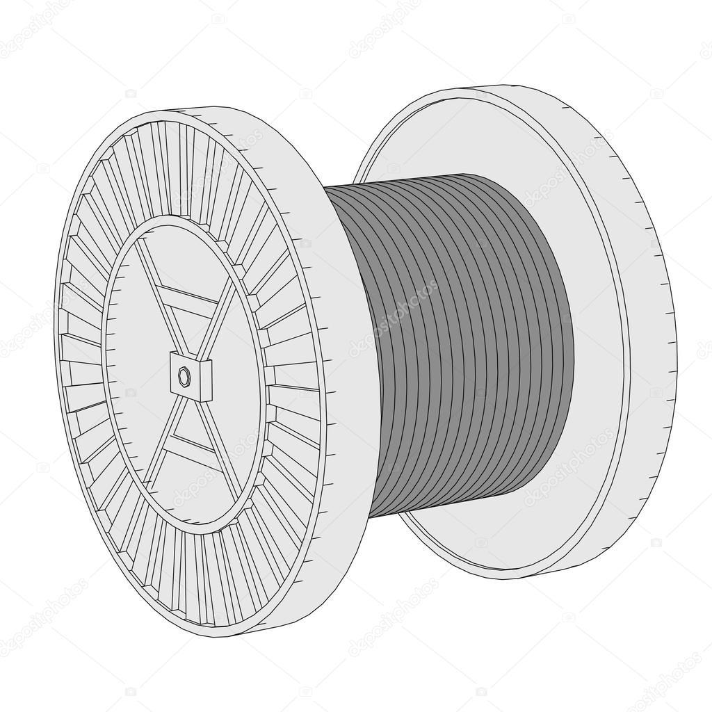 Cartoon image of wire spool — Stock Photo © 3drenderings #42110283