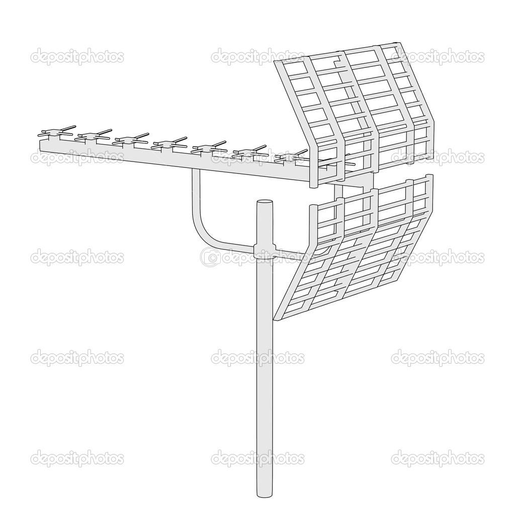 image de dessin anim d 39 antenne tv photographie 3drenderings 42511913. Black Bedroom Furniture Sets. Home Design Ideas