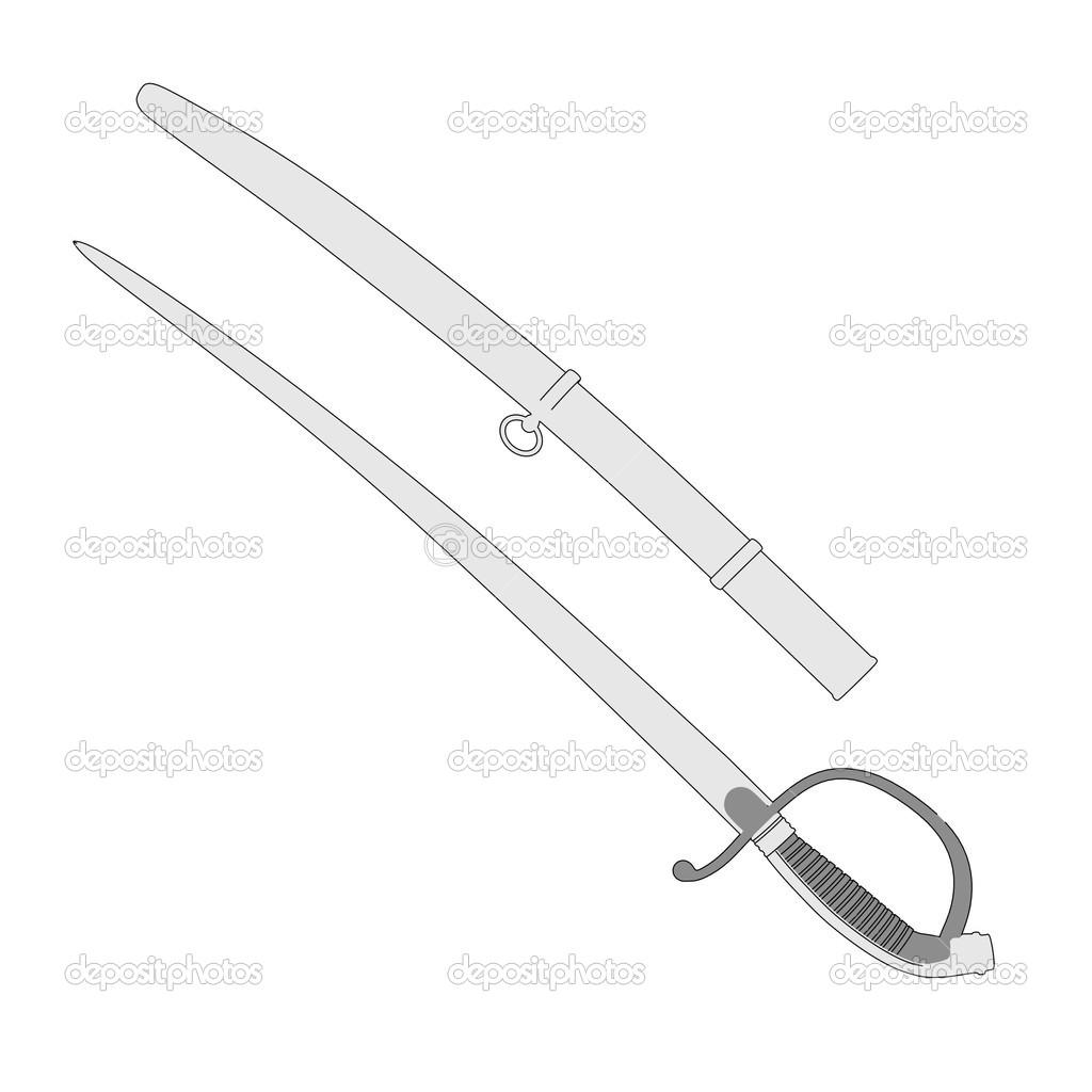 Image de dessin anim de l 39 arme p e sabre photographie 3drenderings 43415751 - Dessin de sabre ...