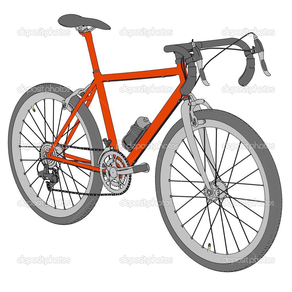 Image De Dessin Animé De Course De Vélo Photographie