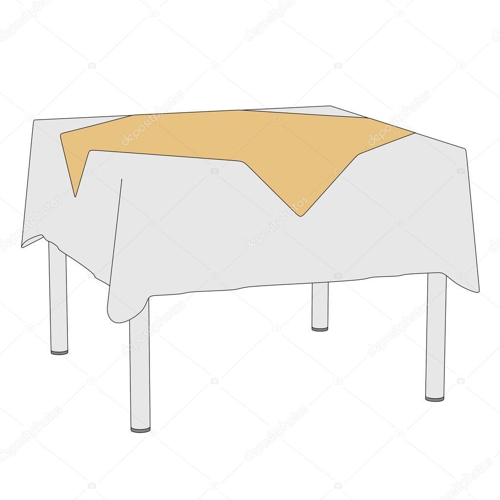 Ilustraci n de dibujos animados de mesa con mantel fotos for Mesa de dibujo ikea
