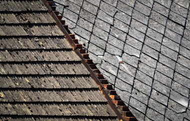 Two types of old roofs