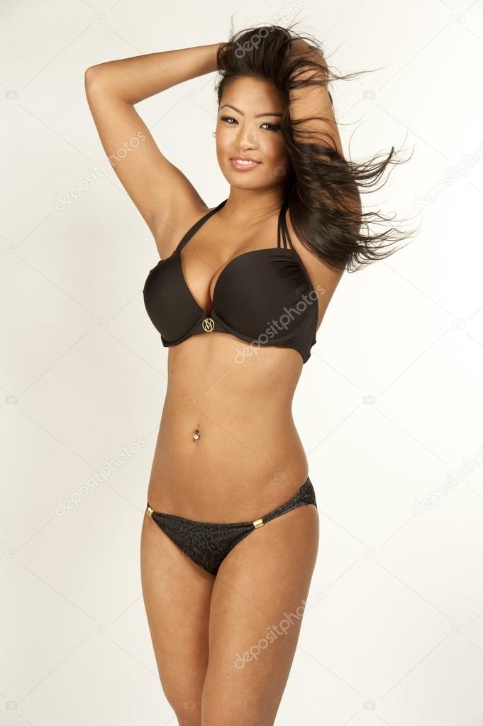 Asian bathing suit