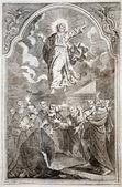 Slowakei - 1727: Jesus Christi Himmelfahrt. Lithographie Drucken im Missale Romanum im Jahr 1727 von Augustae Vindelicorum veröffentlicht.