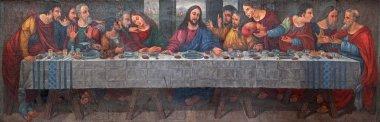 VERONA - JANUARY 28: Last supper of Christ from altar of church Santa Maria della Scala in on January 27, 2013 in Verona, Italy.