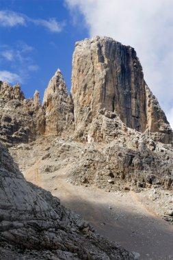 Tower in massif civetta - dolomite