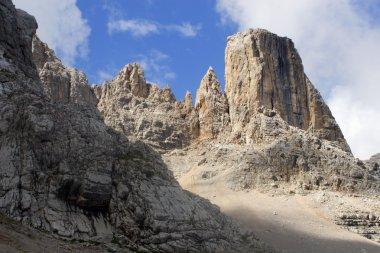 Dolomite - tower in massif civetta