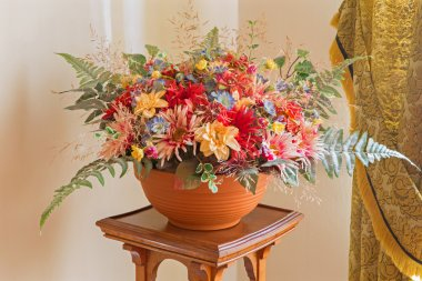 Artificial flowers decoration from palace Saint Anton