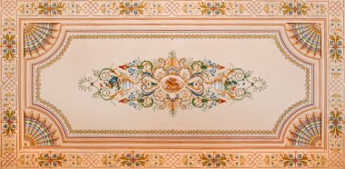 SAINT ANTON, SLOVAKIA - FEBRUARY 26, 2014: Detail of ceiling fresco from library in palace Saint Anton from 19. cent.