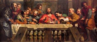 MECHELEN, BELGIUM - JUNE 14, 2014: The Last Supper painted by Jan Erasmus Quellinus (1634-1715) in church Our Lady across de Dyle.