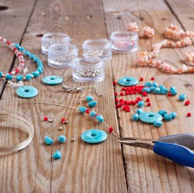 Bead making accessories stock vector