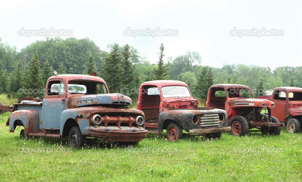 Very old rusty trucks — Stock Photo © Anjela30 #28898785