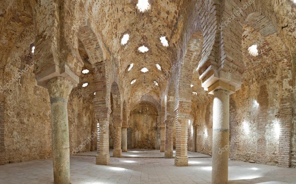 Baños Arabes En Ronda | Panoramic Photo Of Old Arabic Bath House In Ronda Los Banos