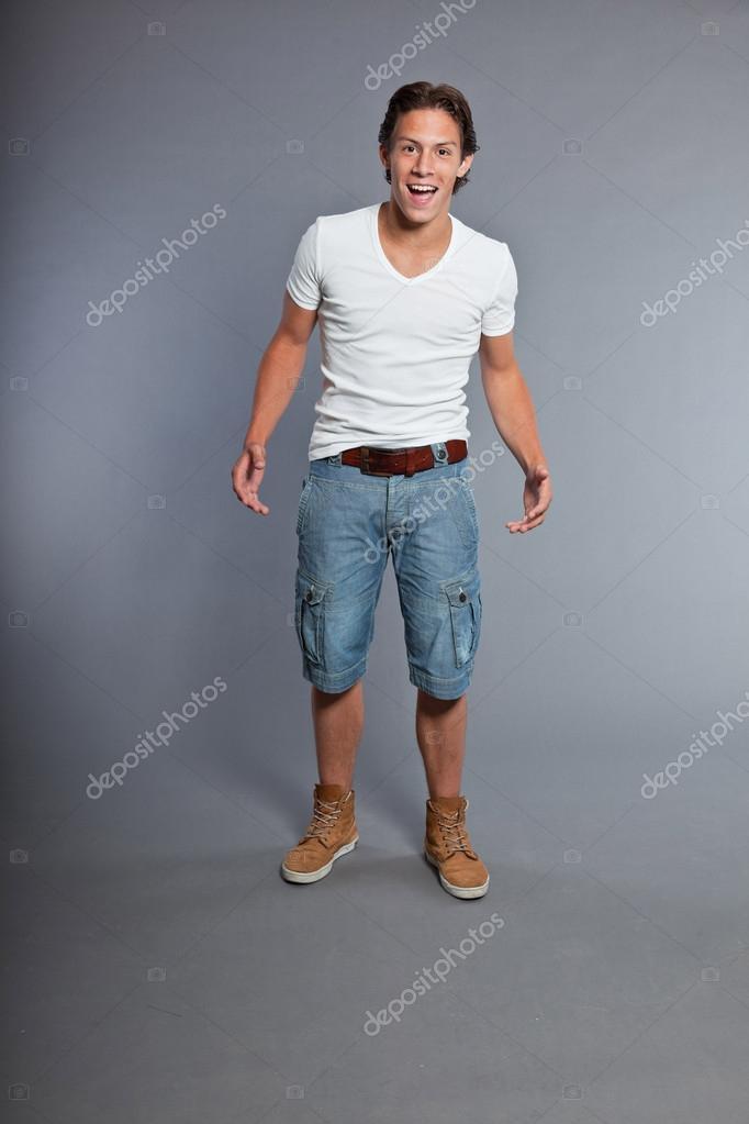 Wearing shorts teen boy teen