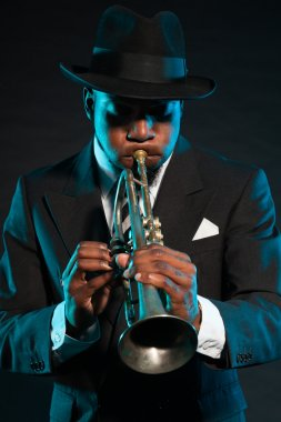Black african american jazz musician.