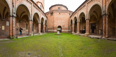 Panorama of Santo Stefano church in Bologna. Europe. Italy.