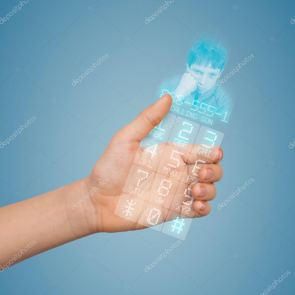 Conceptuellement Transparent Téléphone Mobile Du Futur