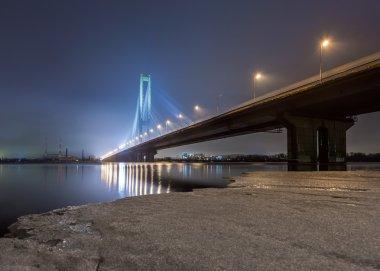 South bridge in evening Kiev, Ukraine