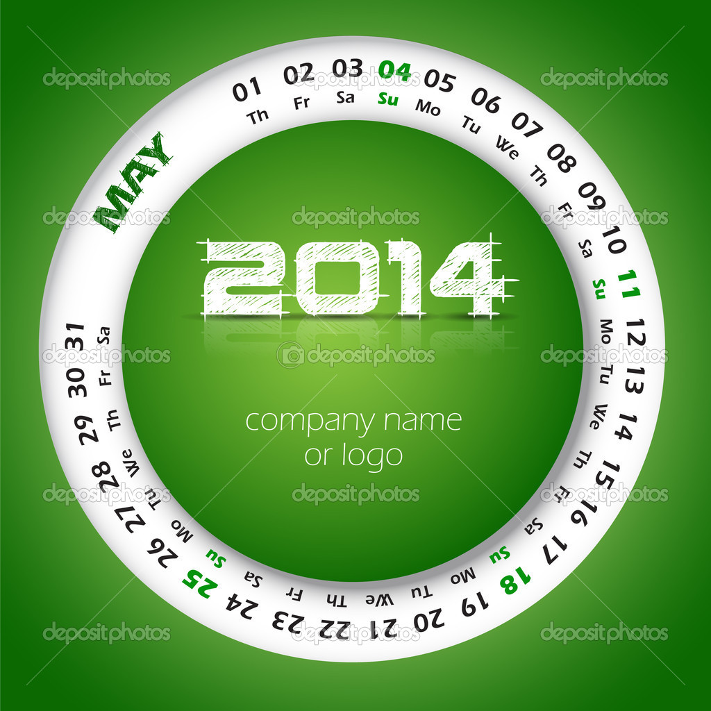 2014 year vector calendar for business wall calendar and business 2014 year vector calendar for business wall calendar and business card may stock vector reheart Image collections