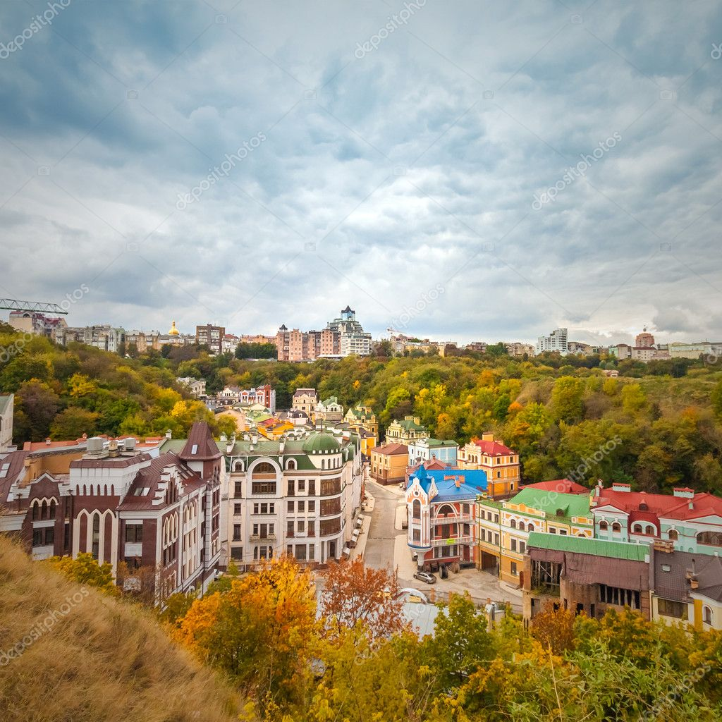 Vozdvizhenka elite district in Kiev, Ukraine