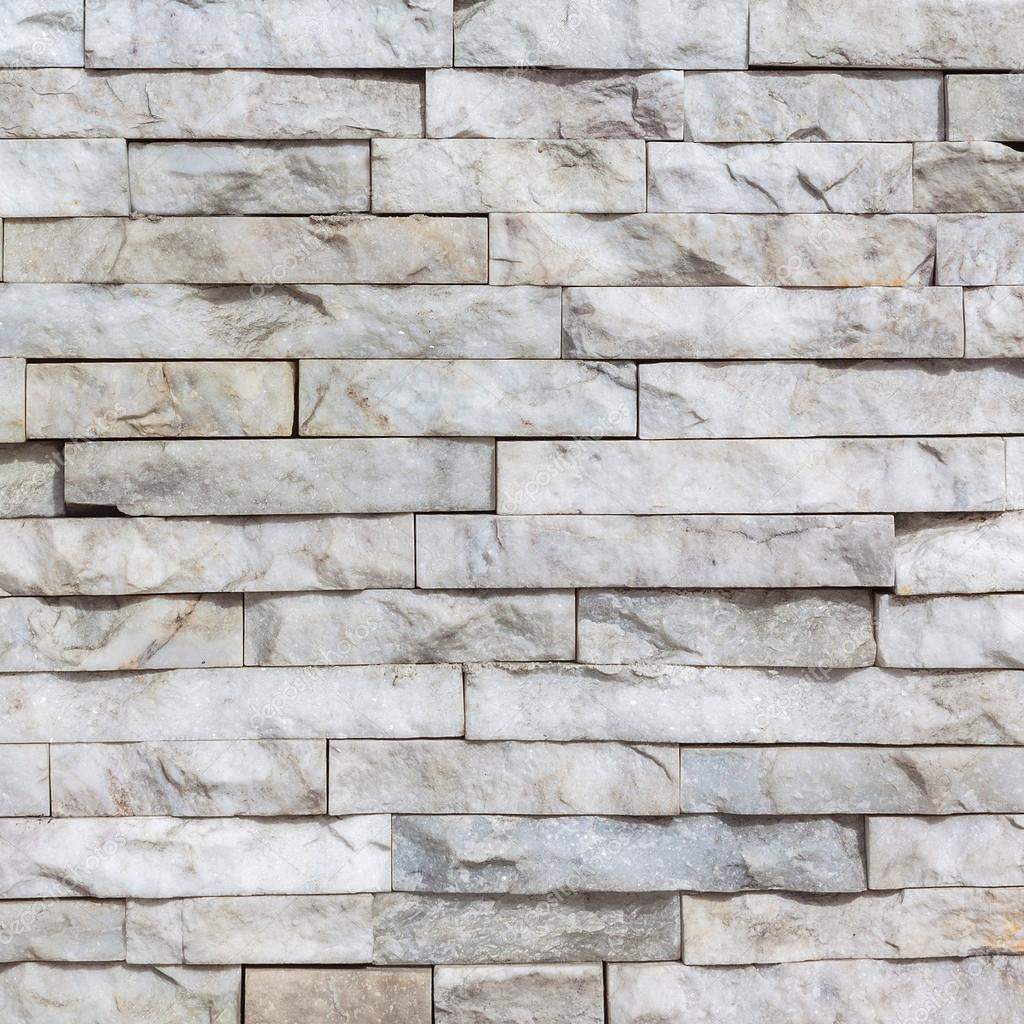 White Marble Brick Wall Texture And Background Stock