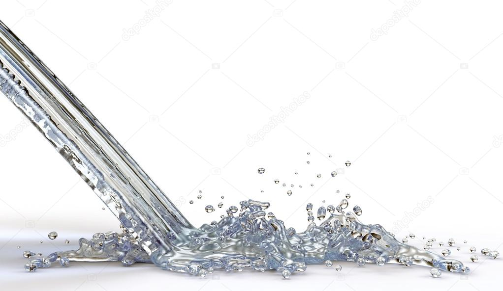 falling jet of water