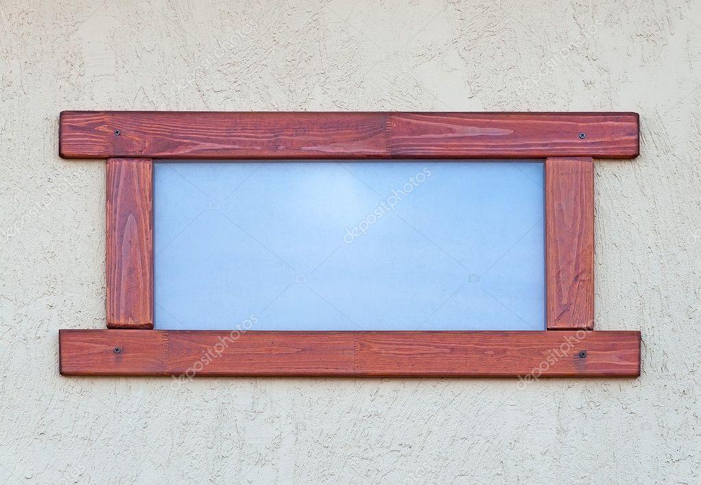 Fenster in einen hölzernen Rahmen — Stockfoto © STRANNIK9211 #47265287