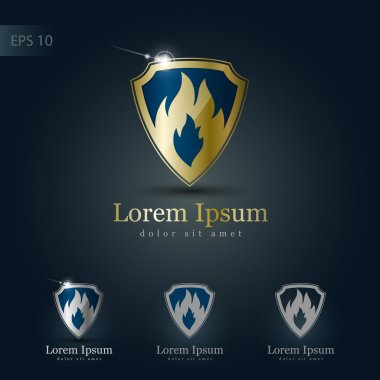 Logo design set.