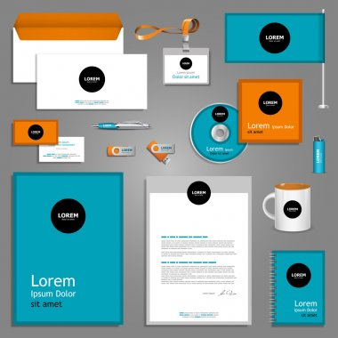 Color stationery template design.