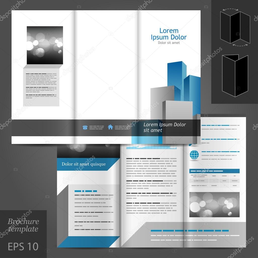 diseño arquitectónico folleto plantilla — Archivo Imágenes ...