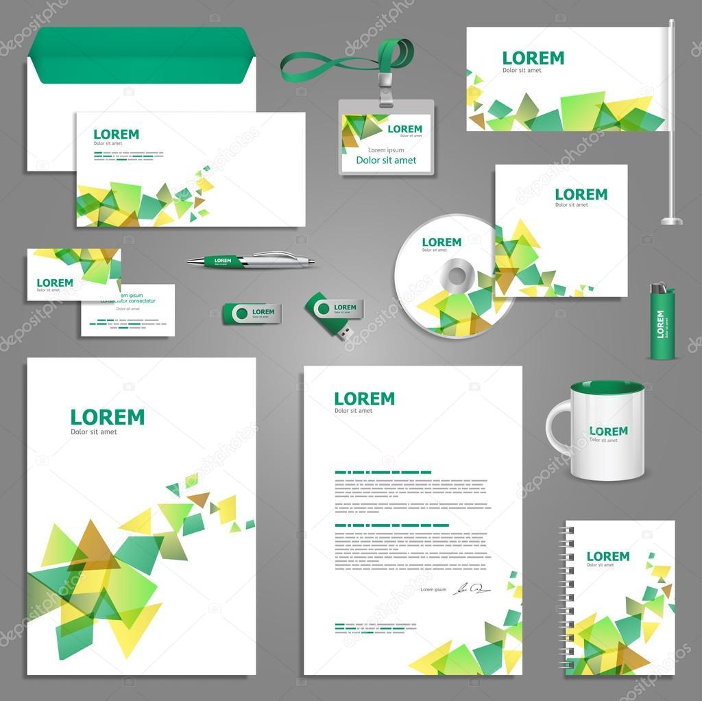 diseño de plantillas de papelería creativa — Vector de stock ...