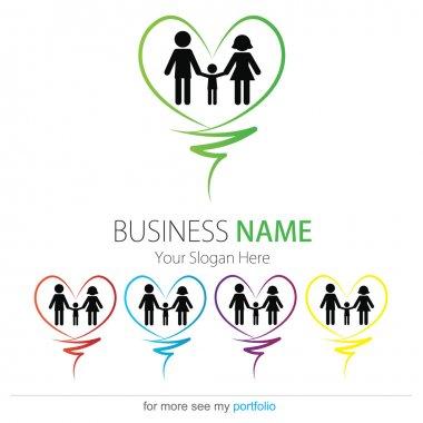 Company (Business) Logo Design, Vector, Heart, Family, Hands