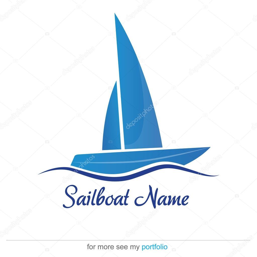 company business logo design vector sailboat u2014 stock vector