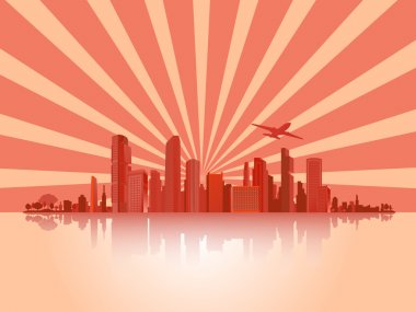 Big City (Town),Vector,Background,Business
