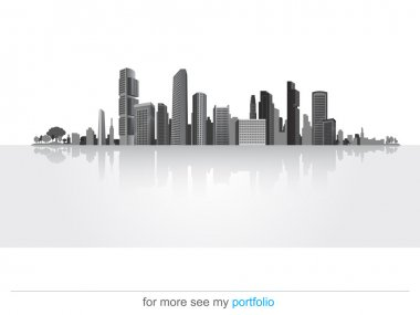 Big City (Town),Vector,Background,Business, Shadow-down