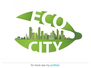 Green Eco City, Ecology, Town, Vector