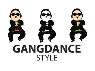 Gangdance style,vector