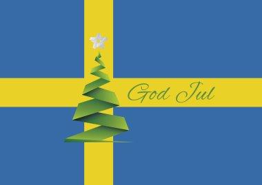 Merry Christmas background,vector,God Jul,Sweden