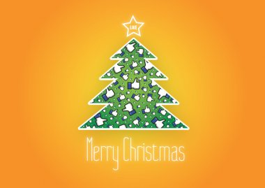 Merry Christmas Like It background,vector,Facebook