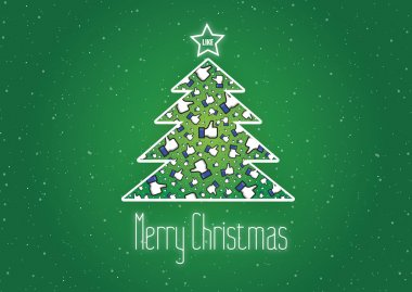 Merry Christmas Like It background,vector,Facebook,Snowflakes