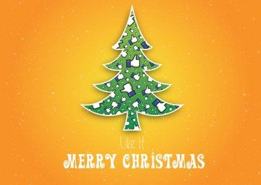 Merry Christmas Like It,Not original facebook like hand,Snowflakes