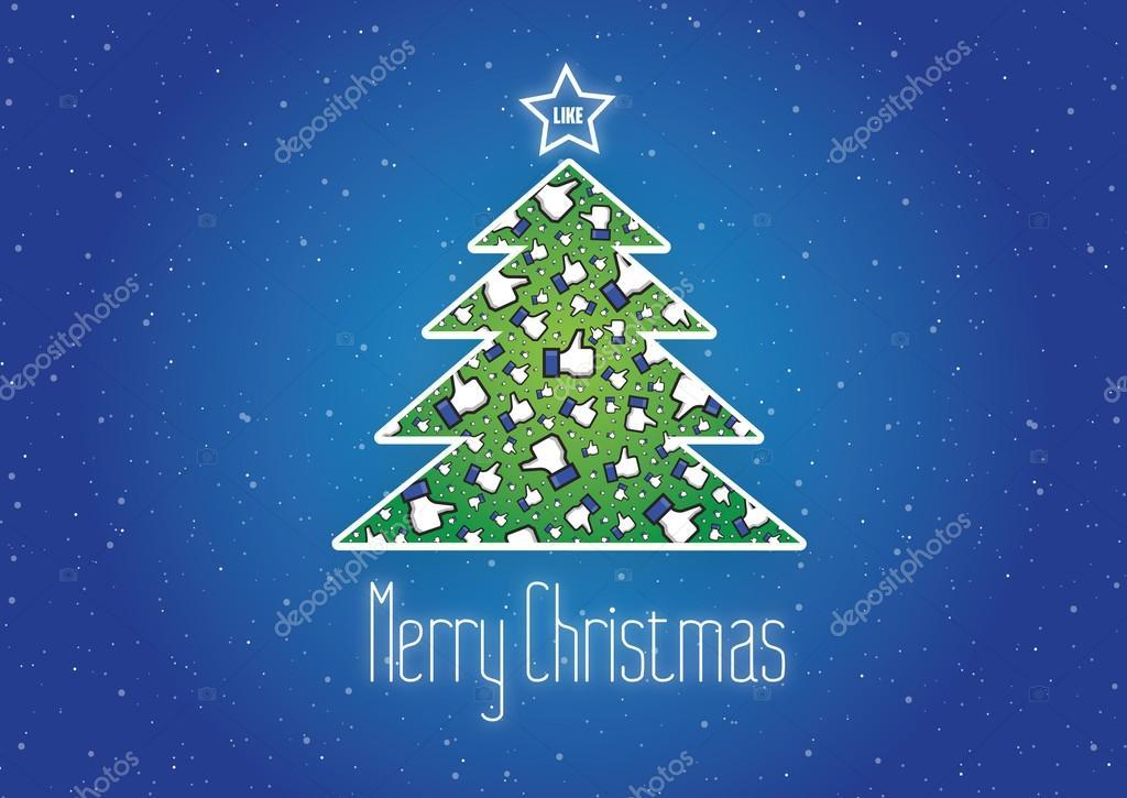 Frohe Weihnachten Bilder Facebook.Frohe Weihnachten Wie Es Hintergrund Vektor Facebook