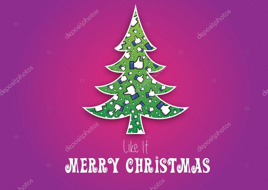 Buon Natale Originale.Buon Natale Come Lo Sfondo Vector Facebook Non Originale Come