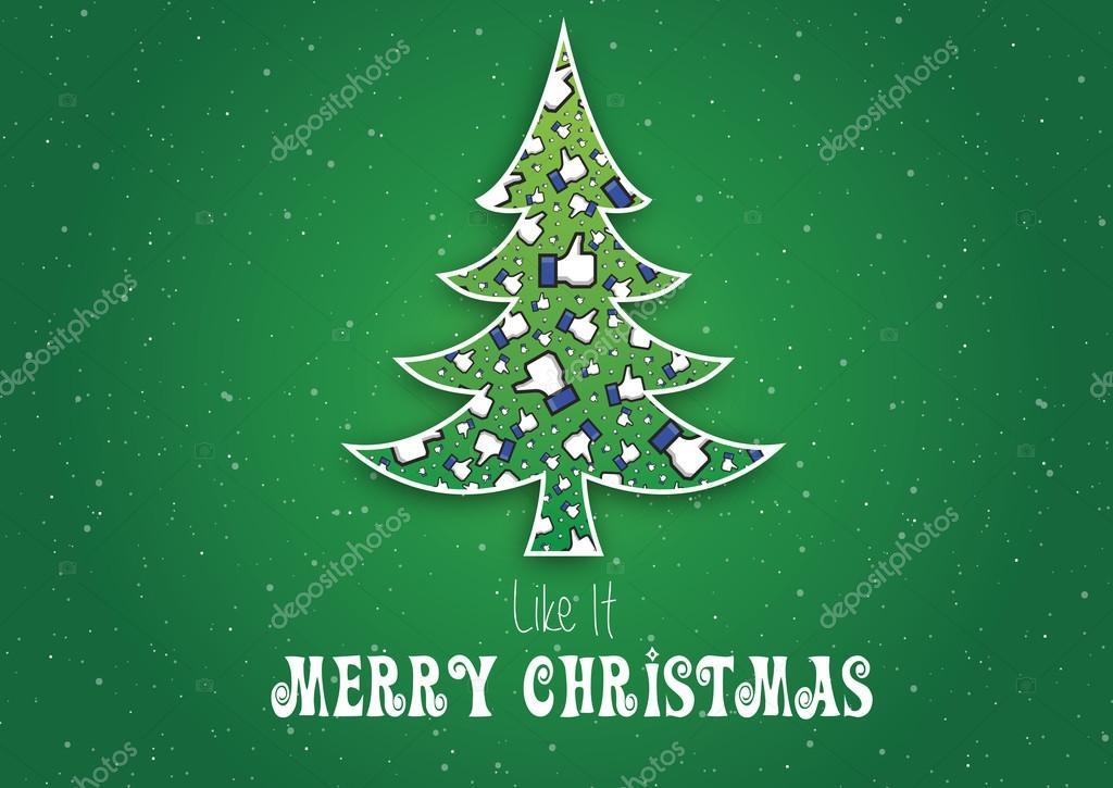 Buon Natale Originale.Buon Natale Come Esso Facebook Non Originale Come A Mano Fiocchi