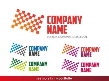 Company Logo Square-Triangle Design,Vector