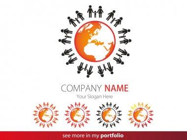 Company Logo Design, Peoples, Family, Earth, Globe