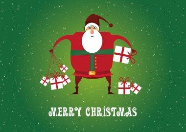 Merry Christmas, Santa Claus, Christmas Tree, Gifts
