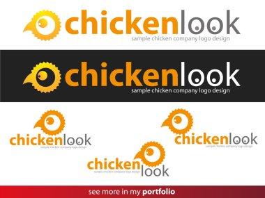 Company Logo Chicken Design,Vector